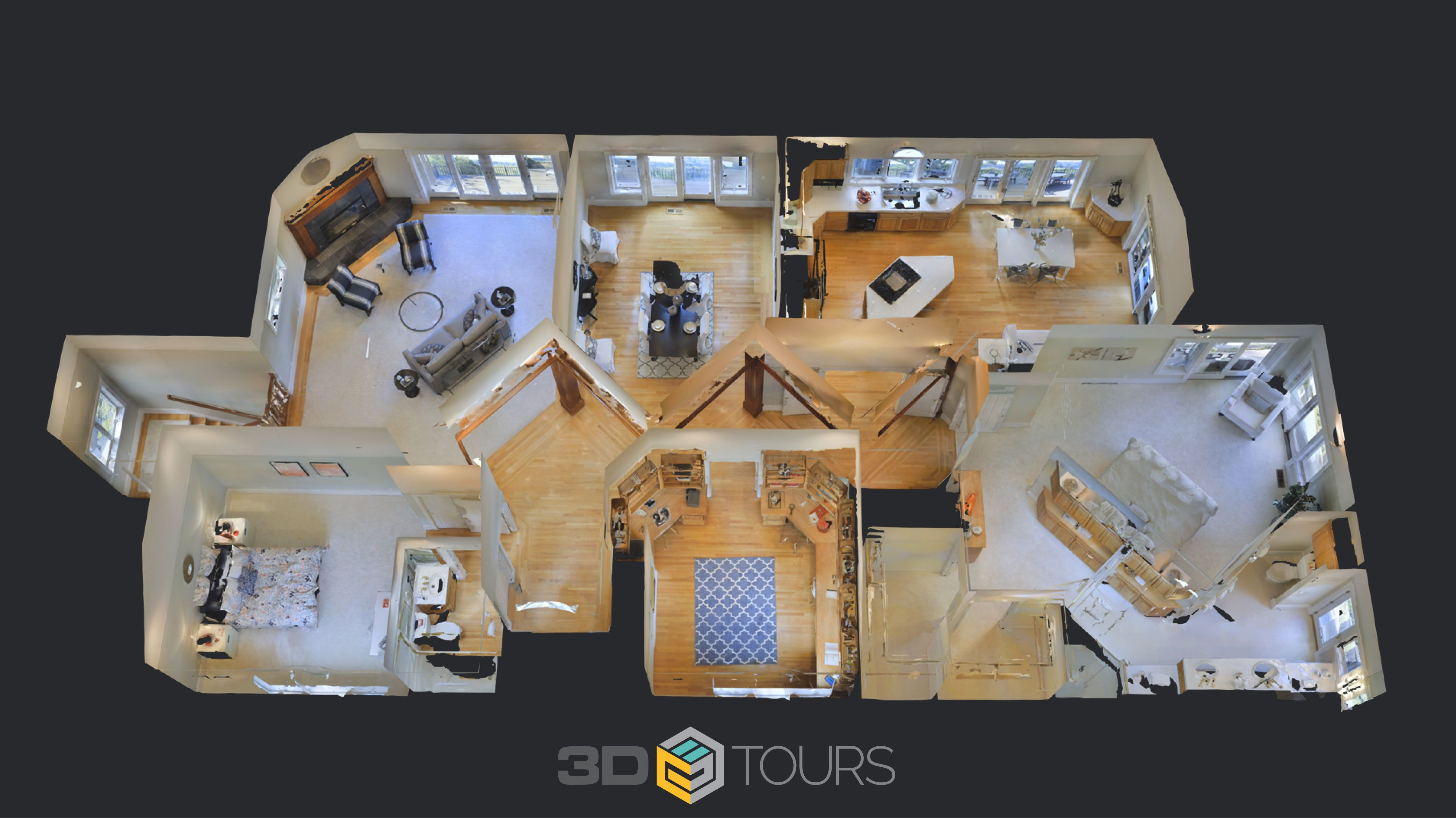 A dollhouse view created by a 3D tour